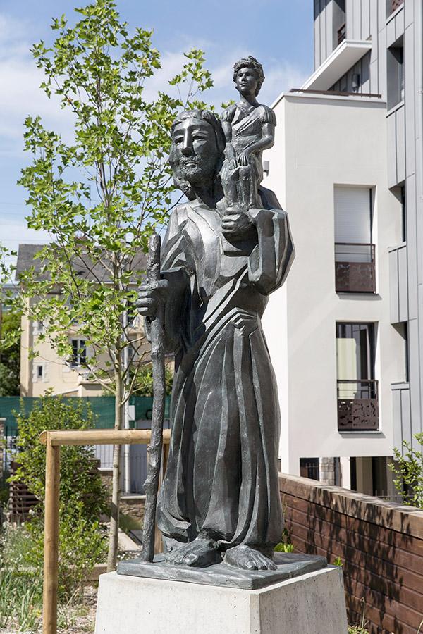 Saint Christophe sculpture monumentale à Nantes