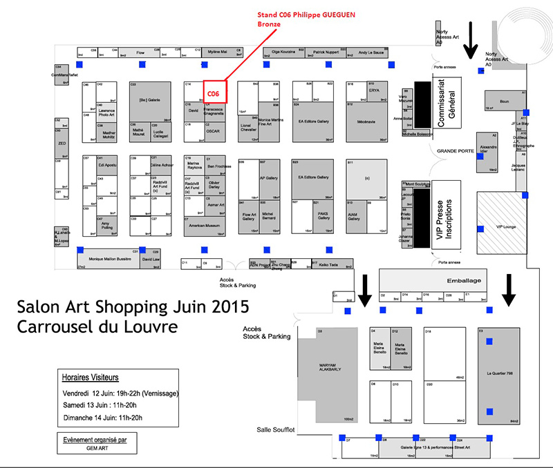 Salon Art Shopping Plan Stands
